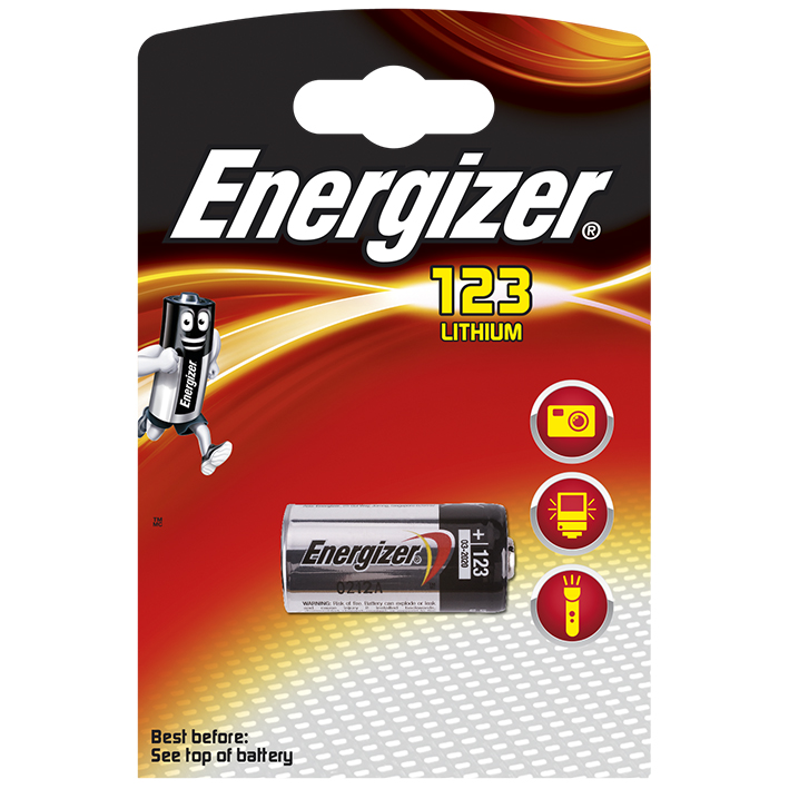 Energizer Fotobatterie 123, Typ CR17345 3 V