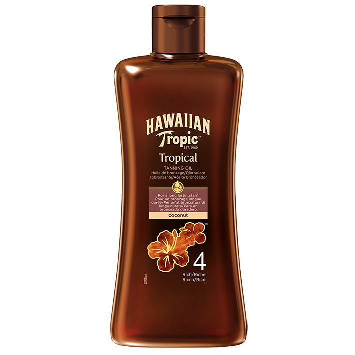Hawaiian Tropic Tanning Oil dark 200 ml mit LSF 4