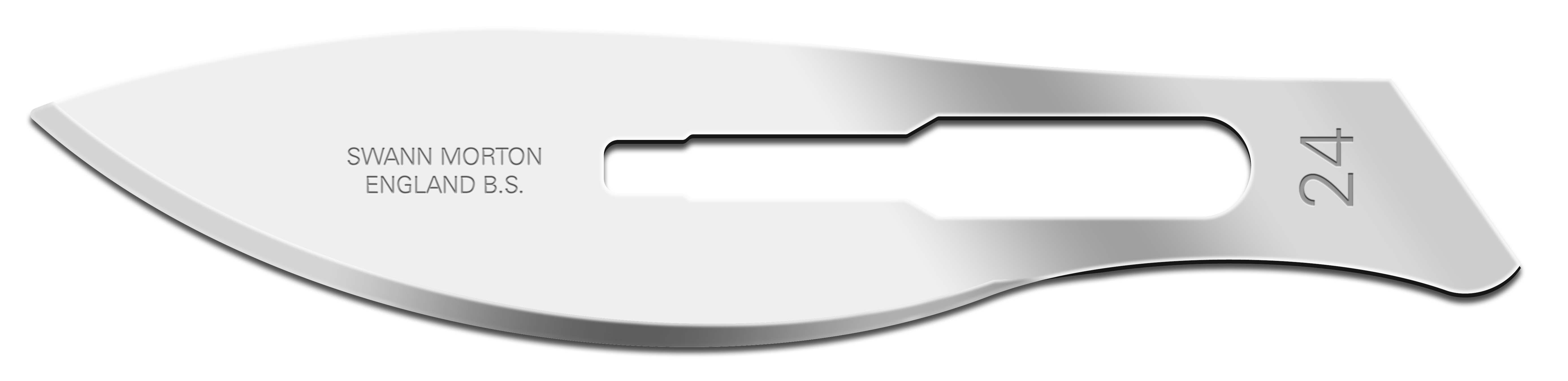 Einmal-Skalpellklingen Swann-Morton, Fig. 24 steril (100 Stck.)
