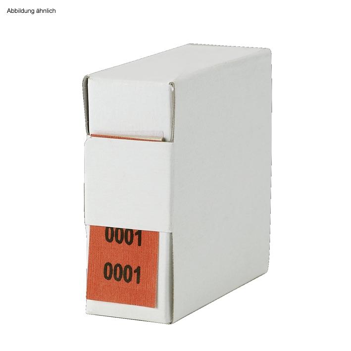 Archiv-Nummern, doppelt, 1001 - 2000, rot