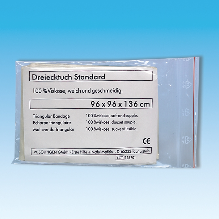 Dreiecktuch Standard rohweiß, DIN 13168, ca. 96 x 96 x 136 cm