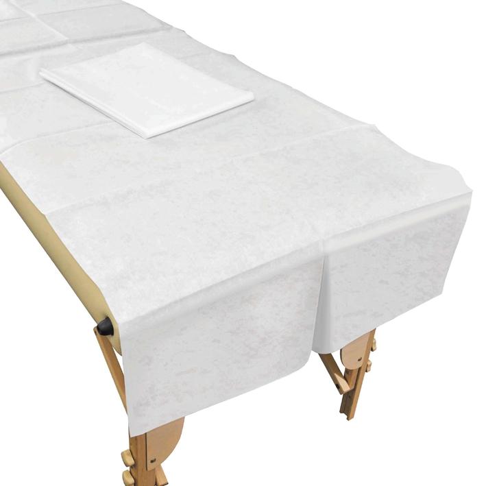 Schutzlaken/Liegenauflagen aus Vlies, weiß 85 x 200 cm (20 Stck.)