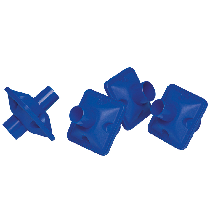 Bakterien-Virenfilter mit Mundstück, blau (50 Stck.)