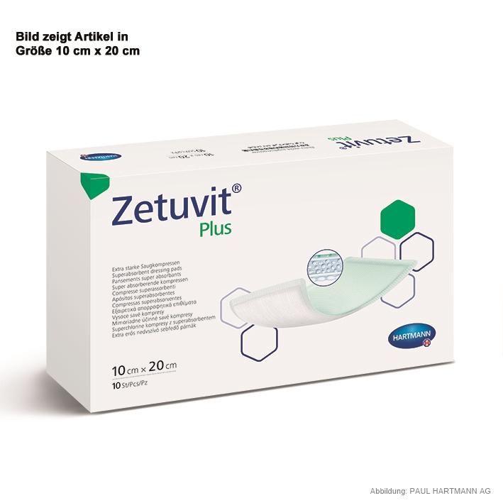 Zetuvit Plus Saugkompressen, steril 15 x 20 cm (10 Stck.)