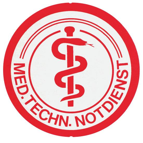 Saugnapfschild: Medizinisch Technischer Notdienst