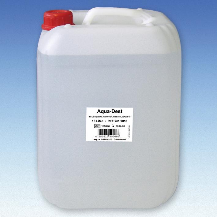 Aqua-Dest 10 Ltr. Laborwasser