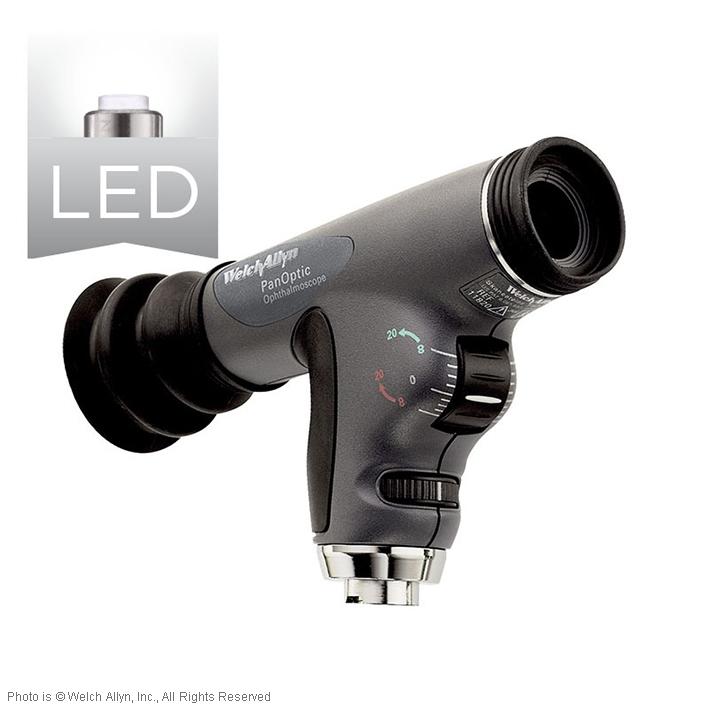 PanOptic LED Ophthalmoskop Instrumenten- kopf mit Kobaltfilter und Kornea Linse