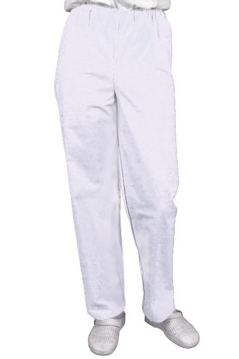 Hose Typ Bochum weiß, Gr. XXL = V, Gr. 54/56 (Damen), 60/62 (Herren), 100 % Baumwolle