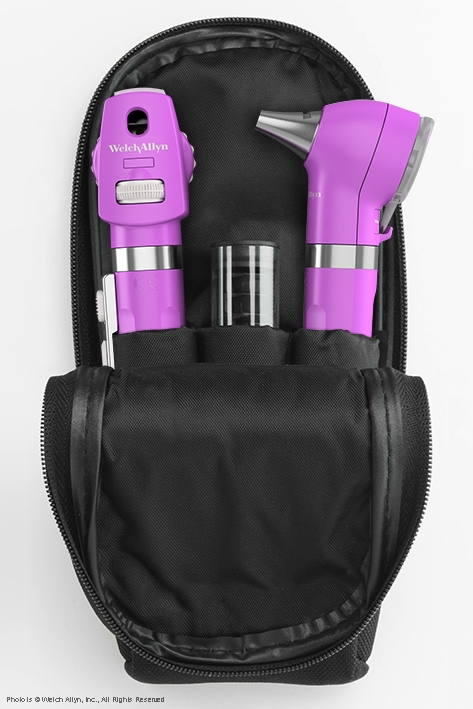 Pocket LED Set opalviolett, mit Softtasche