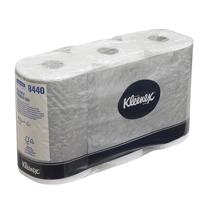 KLEENEX Toilet Tissue, 3-lagig, weiß (6 x 6 Rl. à 350 Bl.)