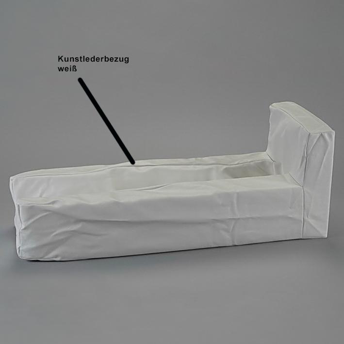 Kunstlederbezug mit Klettverschluss weiß zu Art. 1532800, 1532801