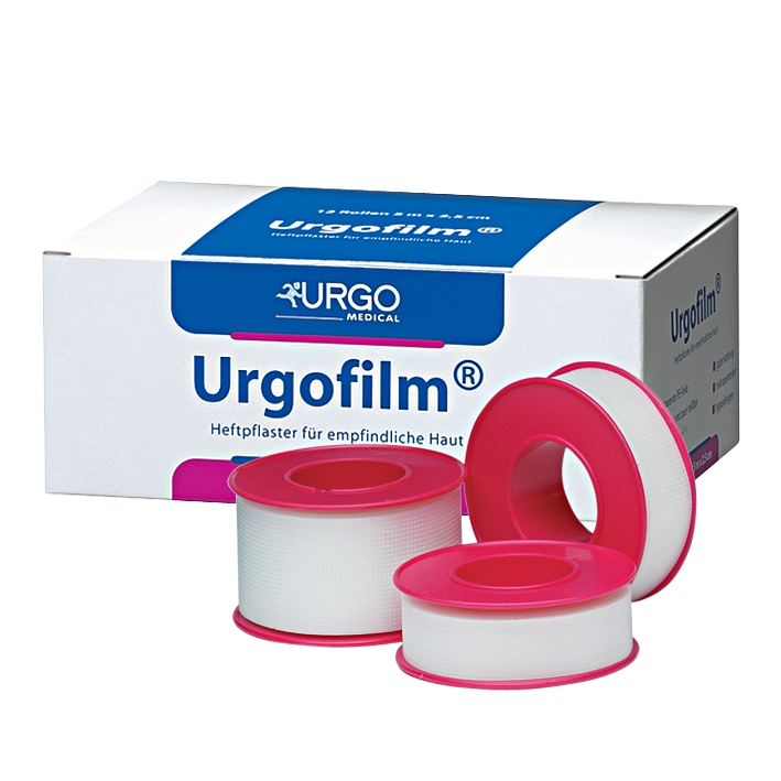 Urgofilm Rollenpflaster, transparent, 5 m x 2,5 cm, ohne Schutzring (12 Stck.)