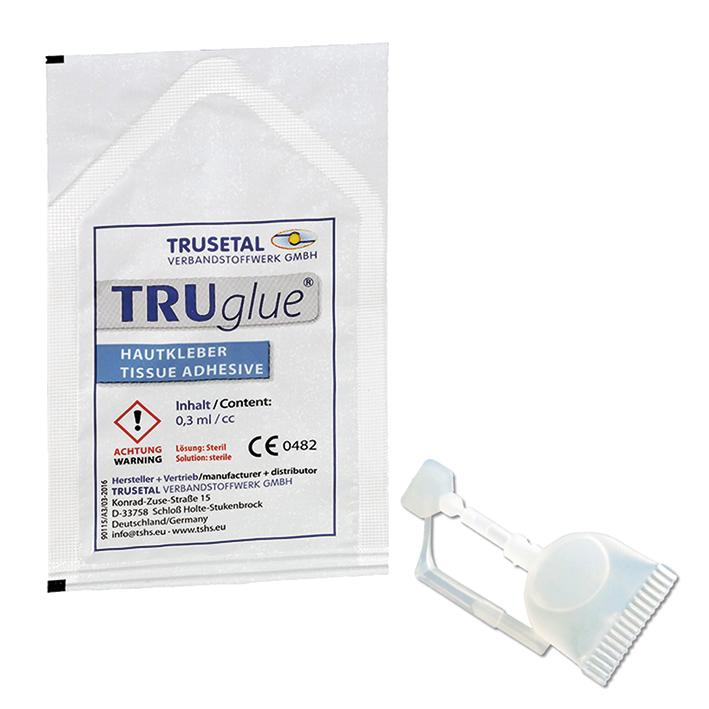 TRUGLUE Einmal-Haut- und Wundkleber, Single Dosen (5 Dosetten à 0,3 ml)