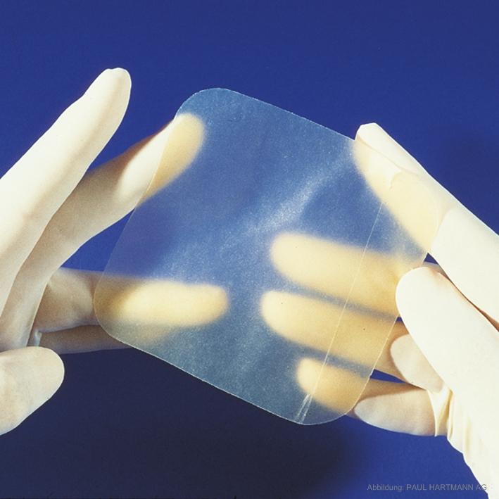 Hydrocoll thin Hydrokolloidverband, steril 7,5 x 7,5 cm (10 Stck.)