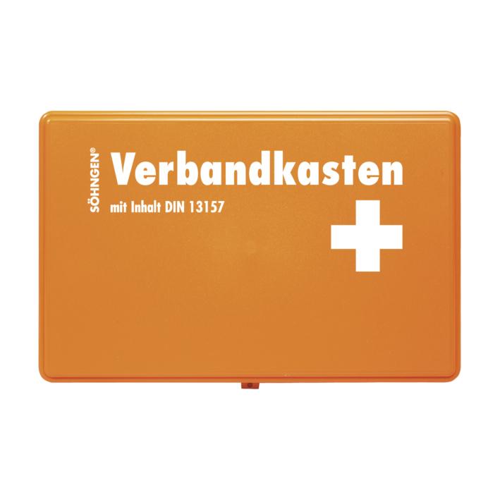 Verbandkasten KIEL/KU Standard, Füllung Standard DIN 13157, orange