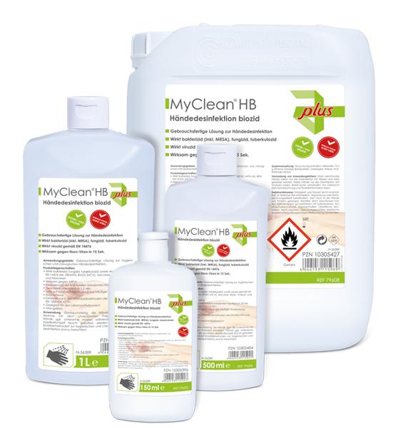 MyClean HB Haut-& Händedesi biozid,5l/Fl.-Serie:plus