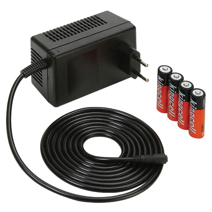 Ladenetzteil mit Akkubatterien, ca. 120 Stunden Betriebsdauer