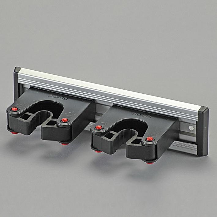 Gehstützen-Halterungen auf 20 cm, Alu-Schiene