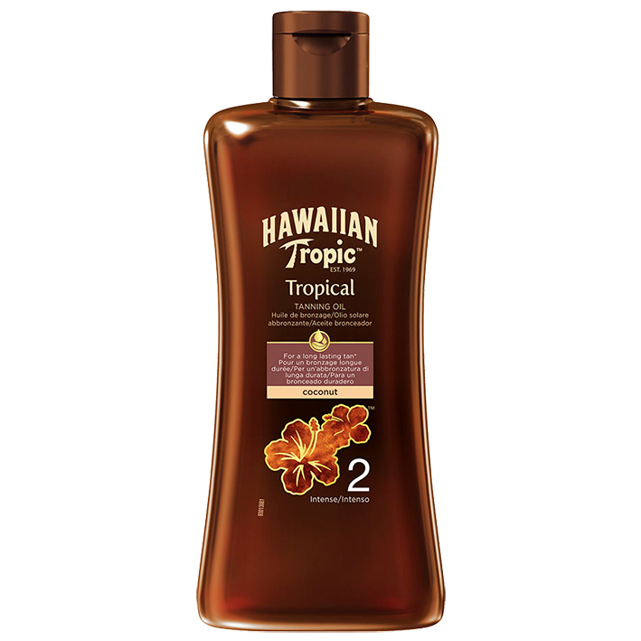 Hawaiian Tropic Tanning Oil dark 200 ml mit LSF 2