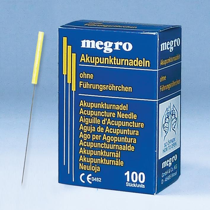 Akupunkturnadeln 0,25 x 40 A3, Plastikgriff (100 Stck.)