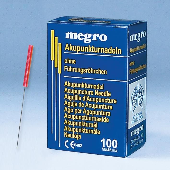 Akupunkturnadeln 0,30 x 30 A3, Plastikgriff (100 Stck.)