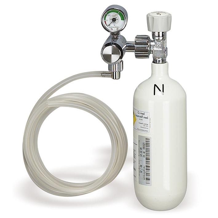 Sauerstoff-Gerät mit Sauerstoff-Flasche 0,8 Ltr. leer