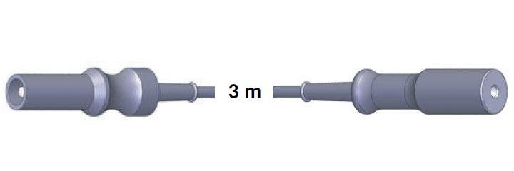Bipolar Anschlusskabel, ERBE -> Wolf, 3,0 mtr.