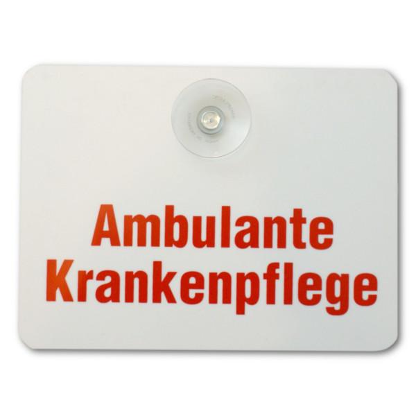 Saugnapfschild: Ambulante Krankenpflege