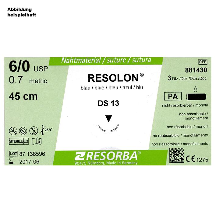 RESOLON DS 40 2/0= 3 blau monofil, Nahtmaterial Fadenlänge 90 cm (36 Stck.)