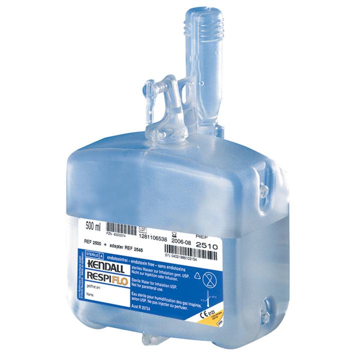 RESPIFLO H, 500 ml, Universalflasche, steriles Wasser, mit Befeuchtungsadapter