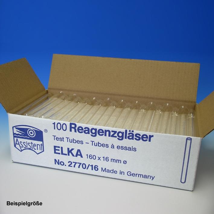 Reagenzgläser ELKA, normalwandig, 200 mm x Ø 24 mm (100 Stck.)