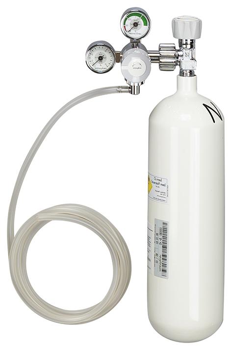 Sauerstoff-Gerät mit Sauerstoff-Flasche, 2,0 Ltr. leer