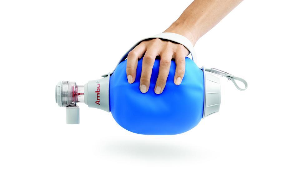 AMBU Mark IV, Beatmungsbeutel für, Erwachsene u. Kinder mit O2-Reservoir, ohne Maske