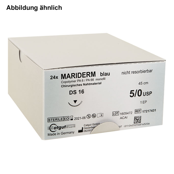 MARIDERM DS 24 4/0=1,5, blau, monofil, Nahtmaterial Fadenlänge 45 cm (24 Stck.)