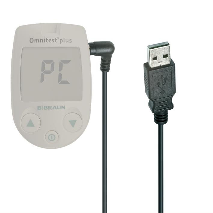Omnitest plus/Omnitest 3 PC-Verbindungskabel USB