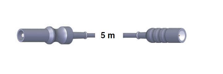 Monopolar Anschlusskabel, AES-BER-MAR -> WOLF/COMEG, 5,0 mtr.