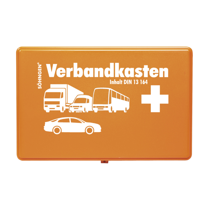 KFZ.-Verbandkasten Standard, Füllung DIN 13164, orange