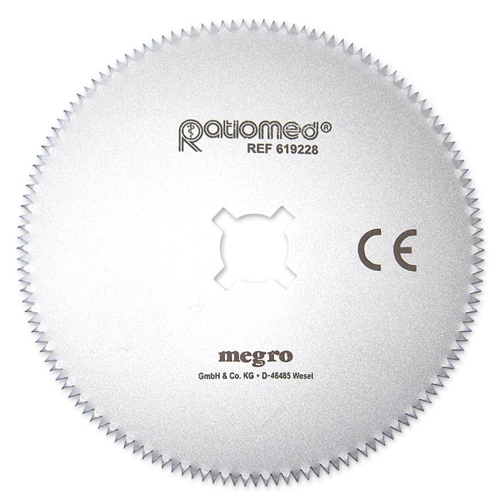 Sägeblatt ratiomed gehärtet 65 mm, für Gipssäge MEG 619220
