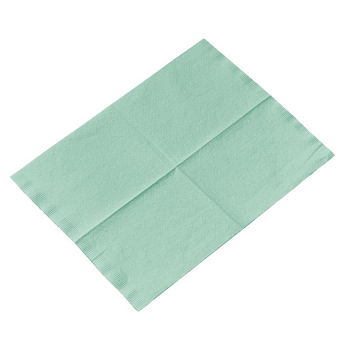 Kopfstützenschoner Tissue/PE, 25 x 33 cm, grün (500 Stck.)