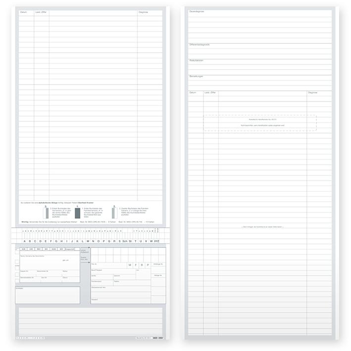 Karteitaschen ALPHAnorm DIN A5 quer Typ Standard (1000 Stck.)
