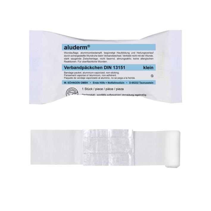 aluderm Verbandpäckchen DIN 13151, klein, steril