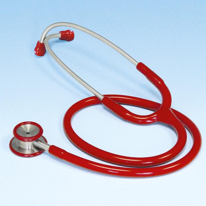 Stethoskop Edelstahl ratiomed, rot für Kinder
