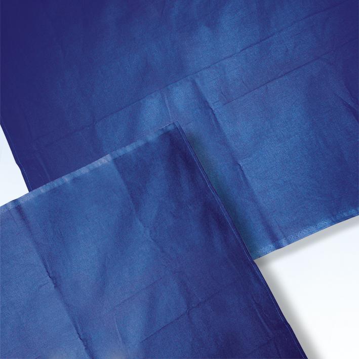 Abdecktuch 80 x 100 cm kornblau, 100 % Baumwolle