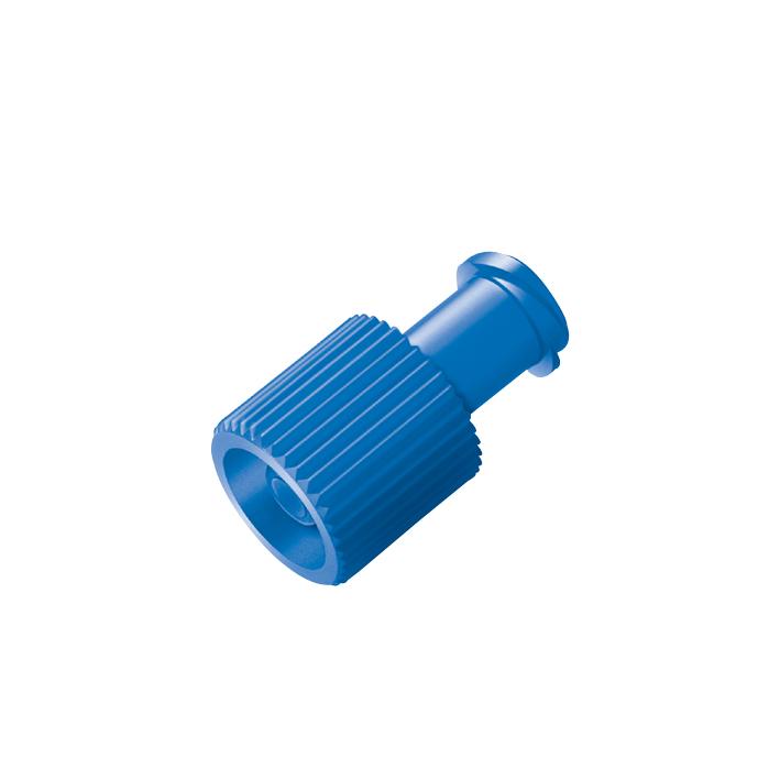 Verschlusskonen Combi blau, Lock-innen/außen (100 Stck.)