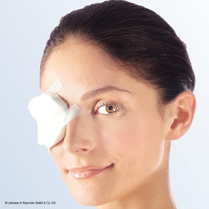 Pro-ophta Augenkompressen unsteril, 5,5 x 7,5 cm (5 Stck.)
