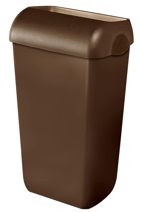 Abfalleimer Kunststoff braun 23 Ltr.