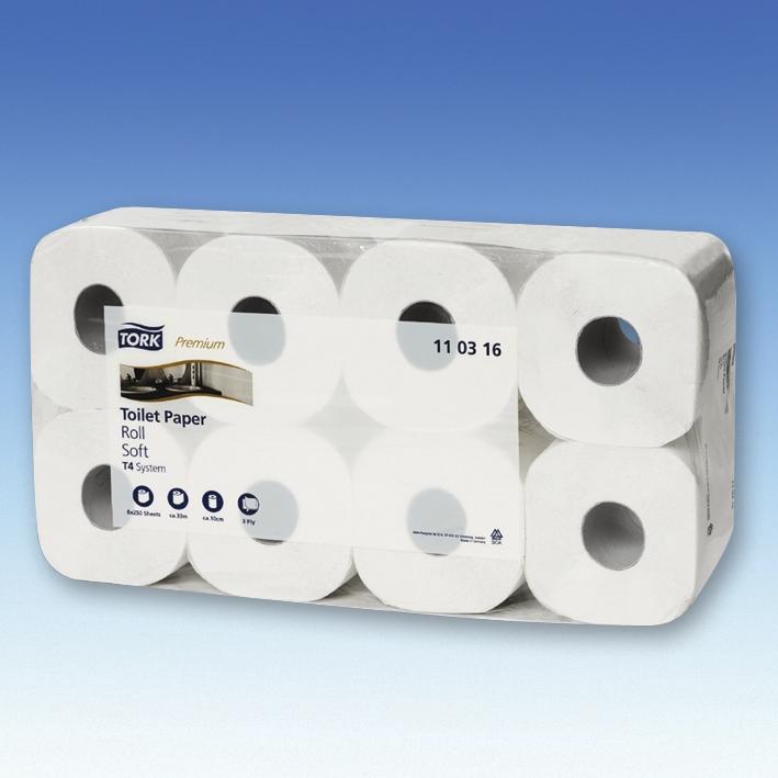 Toilettenpapier Tork Premium Toilet, Soft, 3-lagig, hochweiß (72 Rl.)