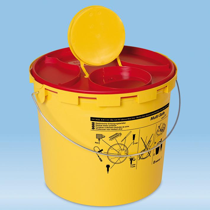 Kanülenabwurfbehälter 5,1 Ltr, Multi-Safe medi 6