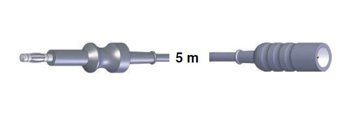Monopolar Anschlusskabel, ERBET -> Wolf, Comeg, 5,0 mtr.