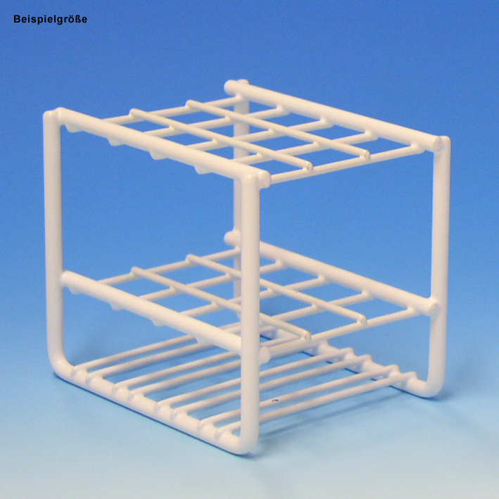 Reagenzglasgestell aus Draht, für 36 Gläser bis 17 mm Ø, ohne Stäbe